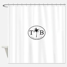 Tybee Island, GA Euro Sticker Shower Curtain