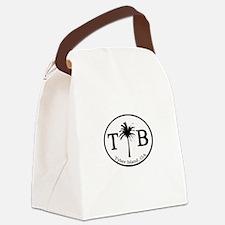 Tybee Island, GA Euro Sticker Canvas Lunch Bag