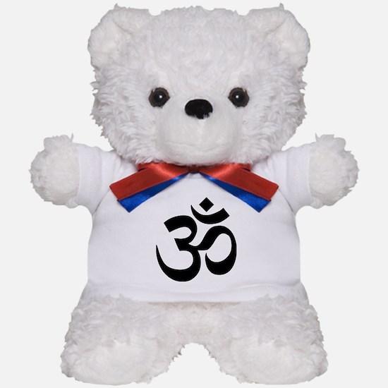 Black Om Symbol Teddy Bear