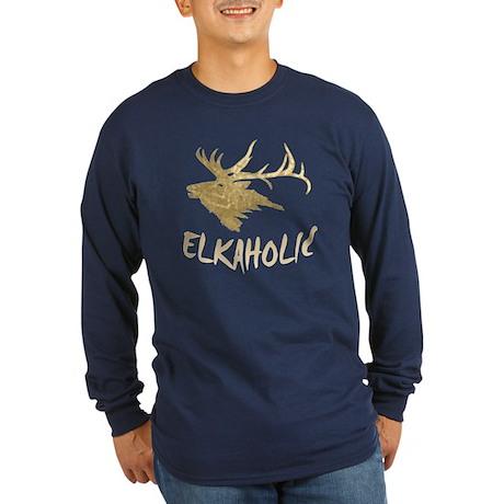 Elkaholic Long Sleeve Dark T-Shirt