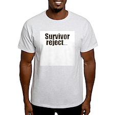 Survivor Reject Ash Grey T-Shirt