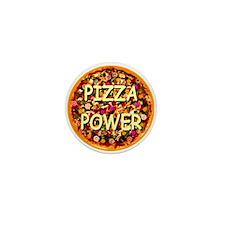 Pizza Power Mini Button