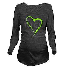 taichi hearti.png Long Sleeve Maternity T-Shirt