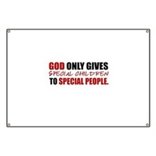 God Only Gives (Red) Banner