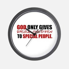 God Only Gives (Red) Wall Clock