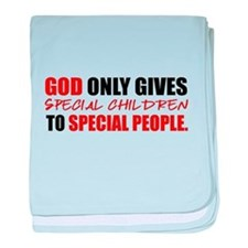 God Only Gives (Red) baby blanket