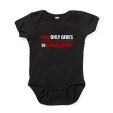 God Only Gives (Red) Baby Bodysuit
