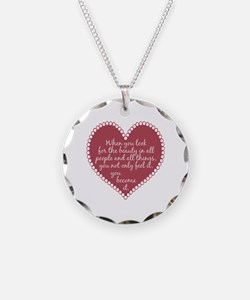Inspirational Beauty Quote Necklace