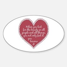 Inspirational Beauty Quote Sticker (Oval)