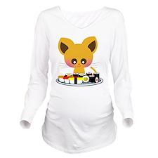 lovesushi.png Long Sleeve Maternity T-Shirt