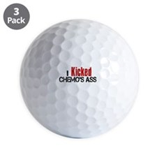 I Kicked Chemo's Ass Golf Ball