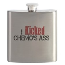 I Kicked Chemo's Ass Flask