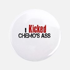 """I Kicked Chemo's Ass 3.5"""" Button"""