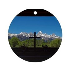 Chapel View of the Grand Tetons Ornament (Round)
