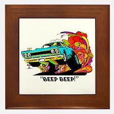 Beep Beep Framed Tile