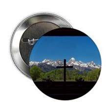 "Chapel View of the Grand Tetons 2.25"" Button"