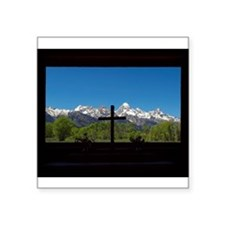Chapel View of the Grand Tetons Sticker
