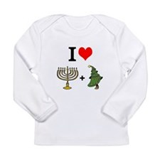 I Heart Hanukkah and Christmas Long Sleeve T-Shirt