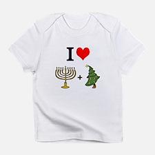 I Heart Hanukkah and Christmas Infant T-Shirt