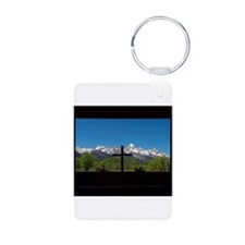 Chapel View of the Grand Tetons Keychains