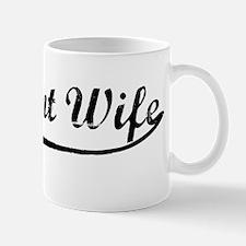 Vintage (Black) Pregnant Wife Mug