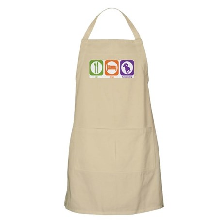 Eat Sleep Horse Racing BBQ Apron