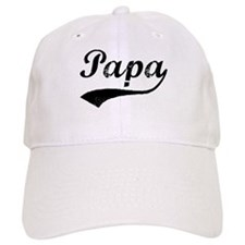 Vintage (Black) Papa Baseball Cap