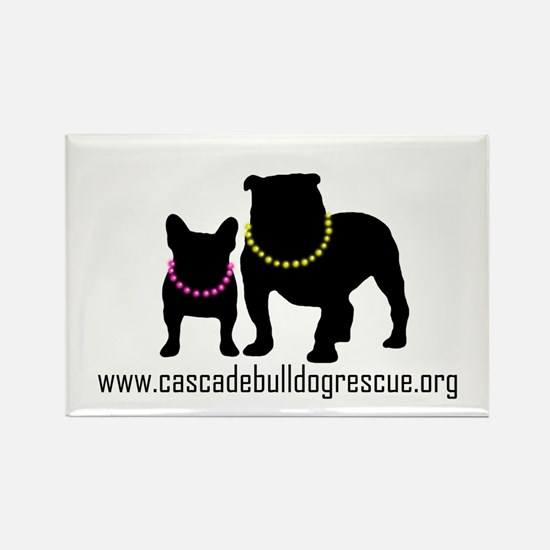 Cute Chicago french bulldog rescue Rectangle Magnet