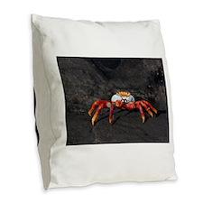 Sally Lightfoot Crab Galapagos Burlap Throw Pillow