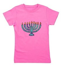 Menorah Girl's Tee