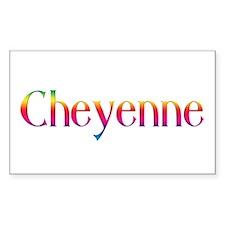 Cheyenne Rectangle Decal