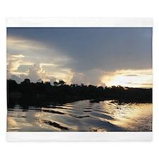 Sunset on the Amazon Water King Duvet