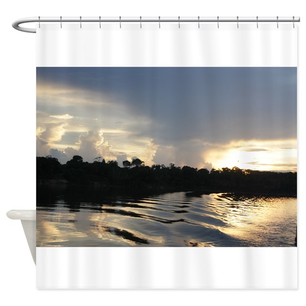 Sunset On The Amazon Water Shower Curtain By