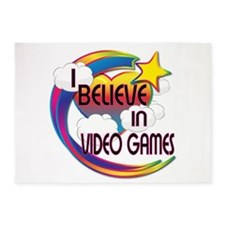 I Believe In Video Games Cute Believer Design 5'x7