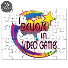I Believe In Video Games Cute Believer Design Puzz