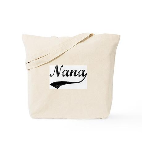 Vintage (Black) Nana Tote Bag
