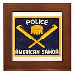 Samoa Police Framed Tile