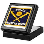 Samoa Police Keepsake Box