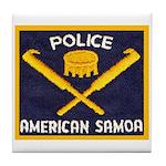 Samoa Police Tile Coaster
