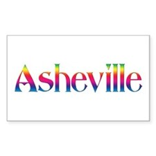 Asheville Rectangle Decal
