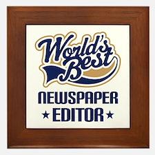 Newspaper Editor (Worlds Best) Framed Tile