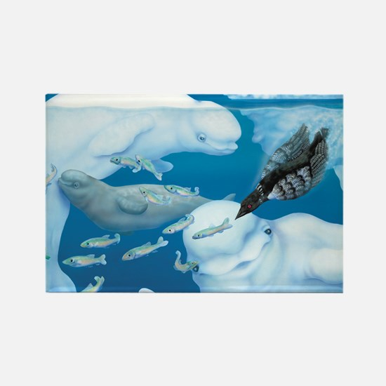 Cute Loon Rectangle Magnet (100 pack)