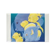 Cute Tropical fishes Rectangle Magnet (10 pack)