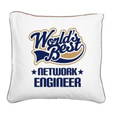 Network Engineer (Worlds Best) Square Canvas Pillo