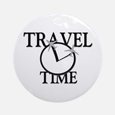 Travel Time Ornament (Round)