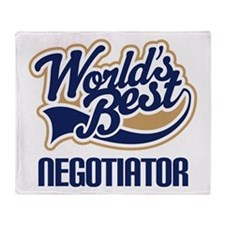Negotiator (Worlds Best) Throw Blanket