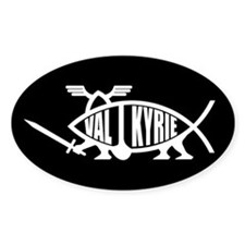 Valkyrie Fish Oval Stickers