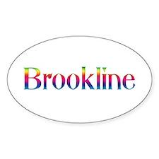 Brookline Oval Decal