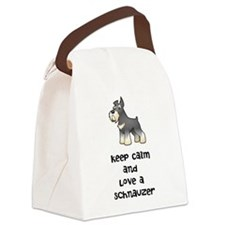 Keep Calm and Love a Schnauzer Canvas Lunch Bag
