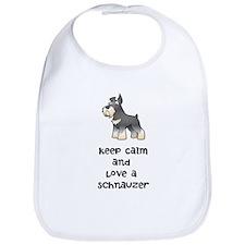 Keep Calm and Love a Schnauzer Bib
